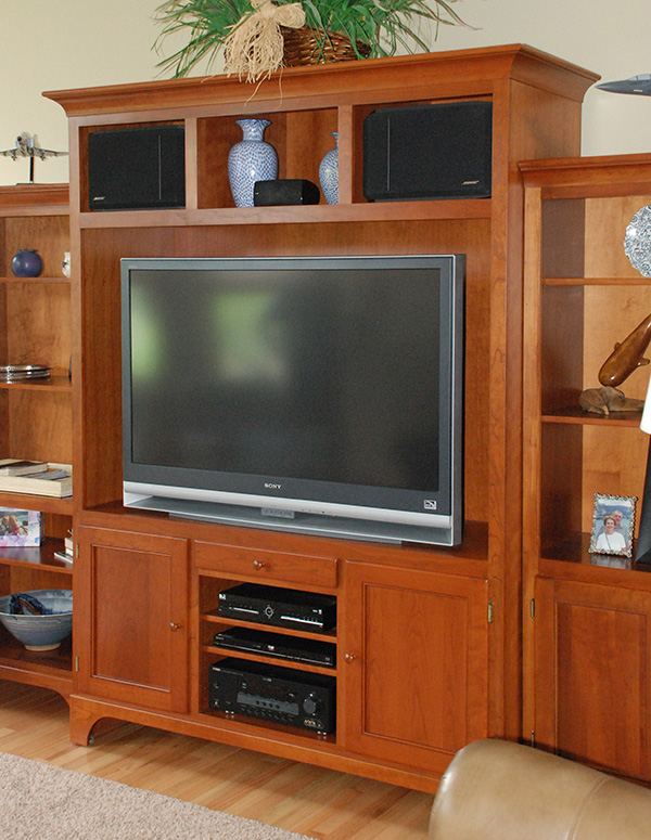 Custom living room cabinets entertainment centers for Living room entertainment centers