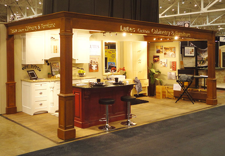 lutes booth at home and garden show
