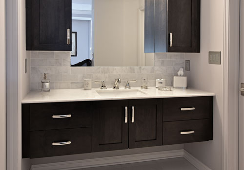 Learn more about custom kitchen bathroom cabinetry from - Maximize space in small bathroom ...