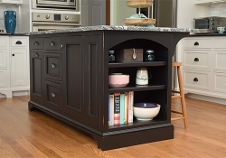 Custom kitchen islands offer a practical alternative to a kitchen remodel